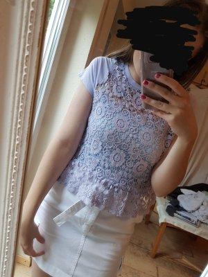 H&M Crochet Top lilac