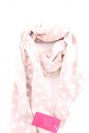 H&M Halstuch pink-weiß Punktemuster Casual-Look