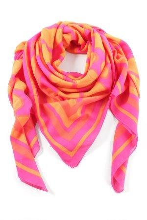 H&M Halsdoek rood-licht Oranje grafisch patroon extravagante stijl