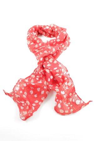 H&M Foulard rouge-blanc imprimé allover style décontracté