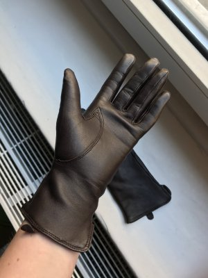 H&M Faux Leather Gloves multicolored imitation leather