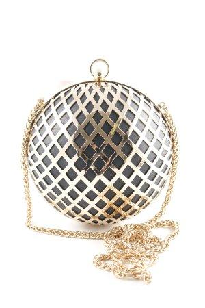 H&M Handtasche goldfarben-schwarz extravaganter Stil