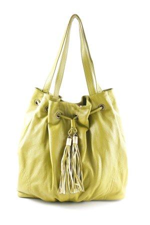 H&M Handtasche grasgrün-goldfarben extravaganter Stil
