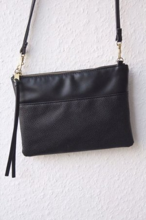 H&M Handtasche Leder schwarz crossbag Umhängetasche