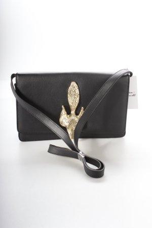 H&M Handtasche schwarz-goldfarben extravaganter Stil