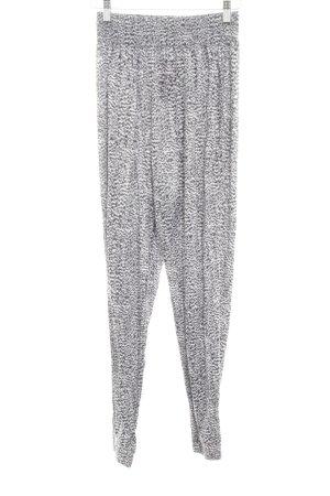 H&M Pantalón estilo Harem blanco-negro estampado con diseño abstracto