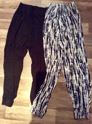 H&M Harem Pants multicolored cotton