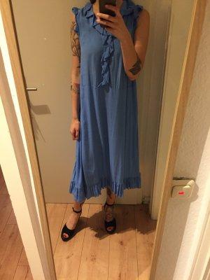 H&M hellblaues Kleid mit Voltans neu!