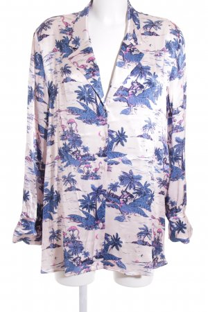 H&M Hemd-Bluse Allover-Druck extravaganter Stil