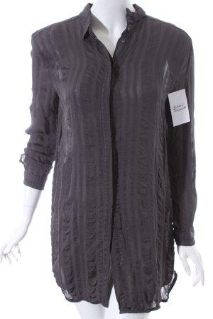 H&M Hemd-Bluse grau Streifenmuster klassischer Stil