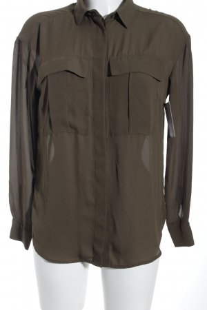 H&M Hemd-Bluse khaki Business-Look