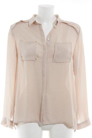 H&M Hemd-Bluse nude-altrosa Casual-Look