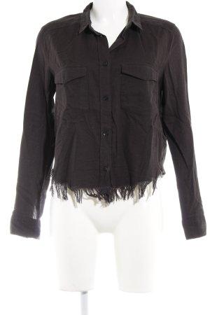H&M Hemd-Bluse schwarz Boho-Look