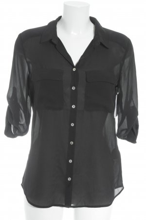H&M Hemd-Bluse schwarz Casual-Look
