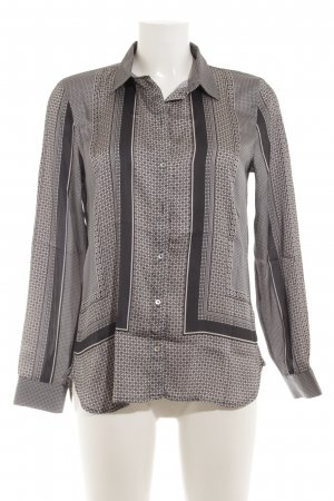 H&M Hemd-Bluse schwarz-hellbeige abstraktes Muster
