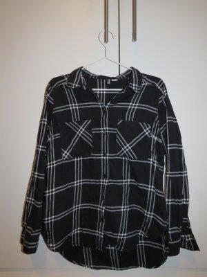 H&M Hemd-Bluse schwarz-weiß kariert