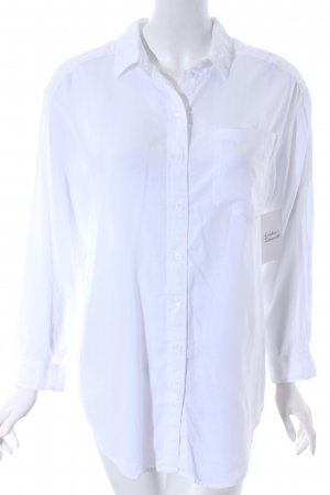 H&M Hemd-Bluse weiß klassischer Stil