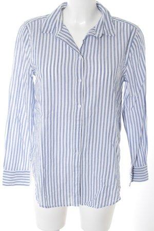 H&M Hemd-Bluse weiß-kornblumenblau Streifenmuster Business-Look