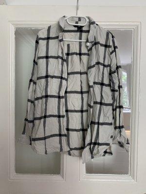 H&M Houthakkershemd wit-grijs