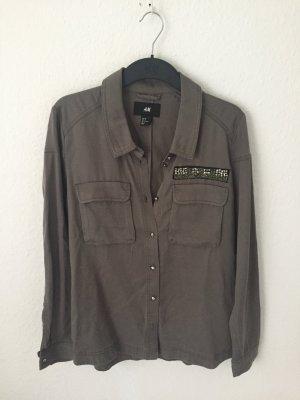 H&M Hemd mit Details Khaki