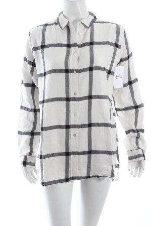 H&M Hemd weiß-schwarz Casual-Look