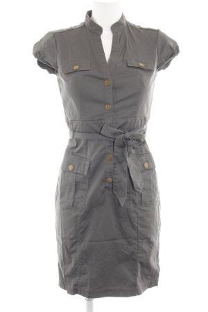 H&M Hemdblusenkleid khaki Business-Look