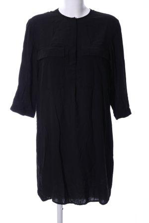 H&M Hemdblusenkleid schwarz Business-Look
