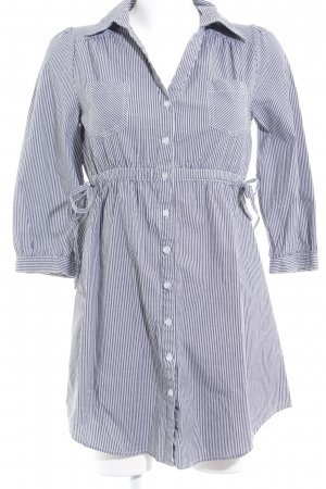H&M Shirtwaist dress grey-white striped pattern casual look