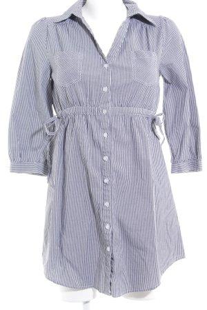 H&M Hemdblusenkleid grau-weiß Streifenmuster Casual-Look