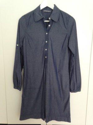 H&M Hemdblusenkleid, jeansblau, Gr. 34