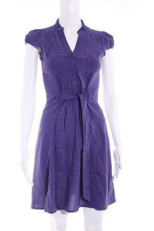 H&M Hemdblusenkleid lila-dunkelviolett Streifenmuster Casual-Look