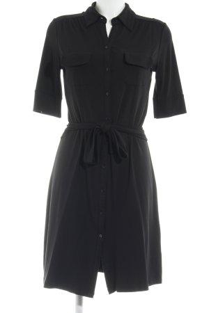 H&M Hemdblusenkleid schwarz minimalistischer Stil
