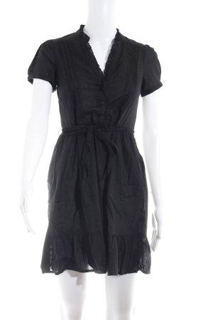 H&M Robe chemise noir motif rayé style décontracté