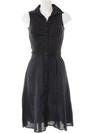 H&M Hemdblusenkleid schwarz Webmuster Casual-Look