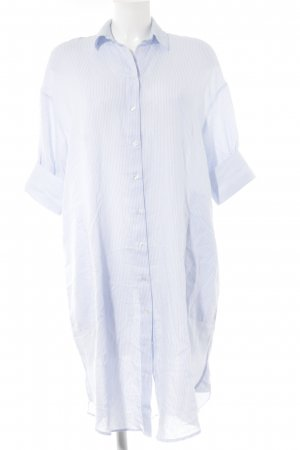H&M Shirtwaist dress white-azure striped pattern casual look