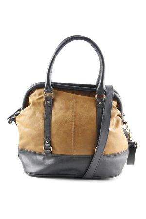 H&M Bolso barrel marrón-negro-marrón arena look casual