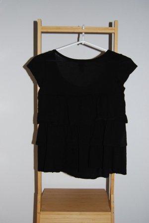 H&M, Hennes & Mauritz Schwarz Damen Top, Bluse, Shirt, Größe: S