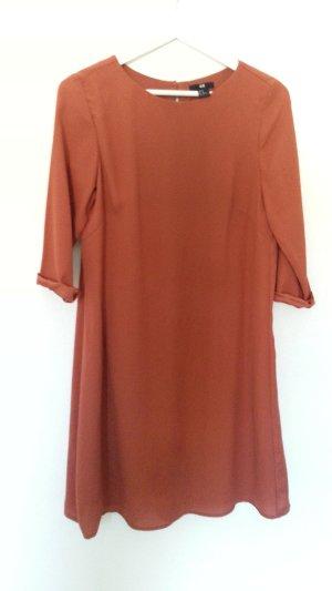 H&M - Herbst - Kleid terracotta  - lockerer Schnitt Gr.40
