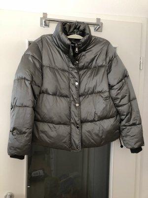 H&M Herbst/ Winter Jacke Silber glänzend