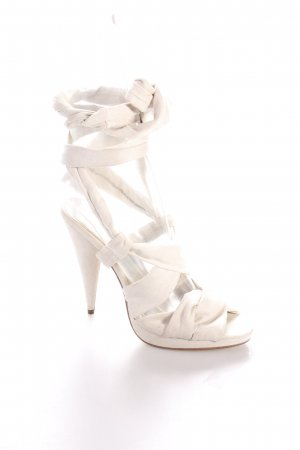 H&M High Heel Sandaletten beige Party-Look