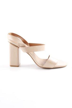 H&M High Heel Sandaletten nude Lack-Optik
