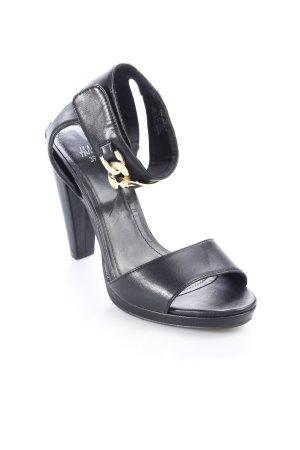 H&M High Heel Sandaletten schwarz schlichter Stil