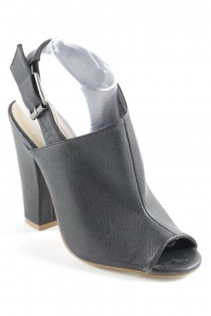H&M High Heel Sandaletten schwarz Street-Fashion-Look