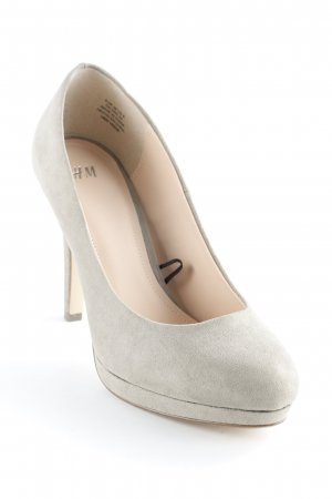 H&M High Heels graugrün Business-Look