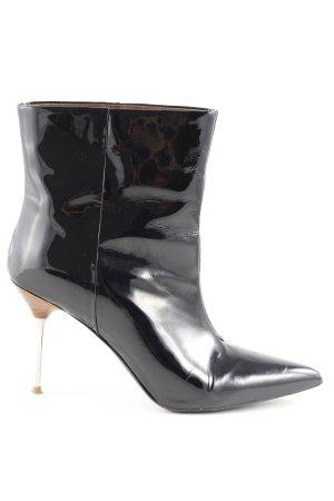 H&M High Heels schwarz Lack-Optik