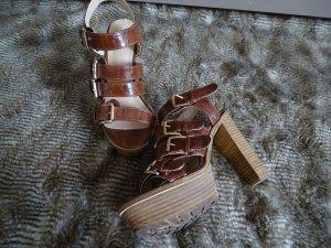 H&M High-Heels Sommer Sandaletten mit Blockabsatz in Gr. 36