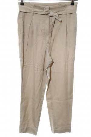 H&M High-Waist Hose wollweiß Casual-Look