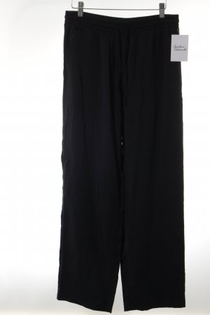 H&M High-Waist Hose dunkelblau Casual-Look