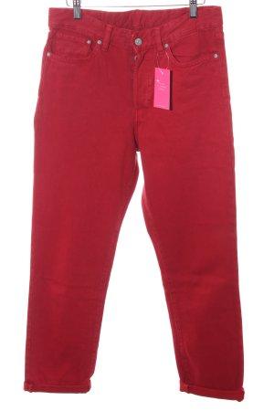H&M Pantalon taille haute rouge foncé style rétro