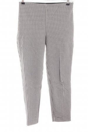 H&M High Waist Trousers black-natural white check pattern casual look
